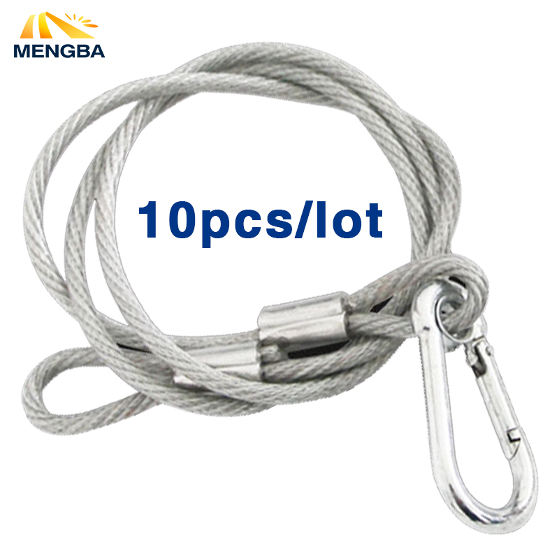 10pc safety cable steel wire stage light safety ropes security cable equipment bar led moving