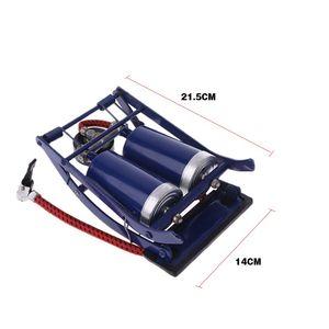 Image 4 - Double Twin Barrel Cylinder Air Inflator Foot Pump Car Van Bicycle Bike Tyre