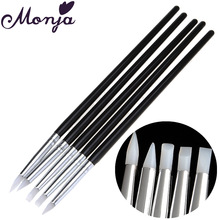5 Style Nail Art Silicone Sculpture Pen Set Acrylic Liquid Powder 3D Image Carving Shaping Baking Dotting DIY Painting Brush Kit