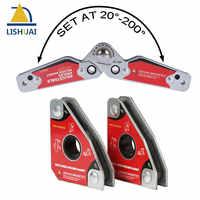 LISHUAI (3 teile/paket) mini Multi-winkel Schweißen Magnet + Kleine Größe Einstellbar Schweißen Clamp 20-200 grad Schweißen Werkzeuge Set