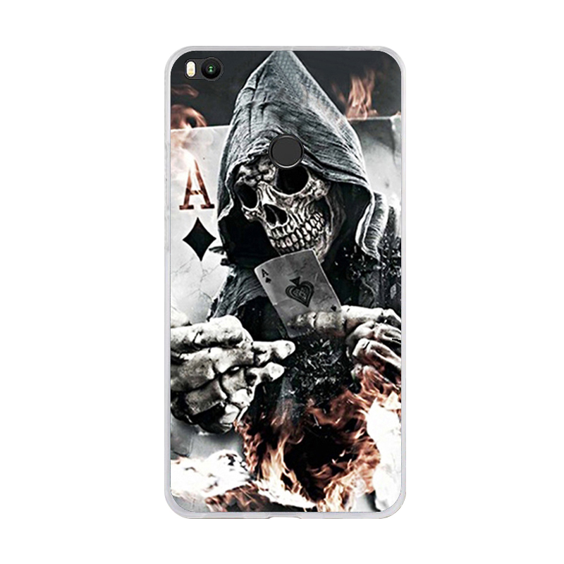Phone Case For Xiaomi Mi Max 2 Soft Silicone TPU Cool Design Pattern Paint For Xiaomi Mi Max2 Cases in Fitted Cases from Cellphones Telecommunications