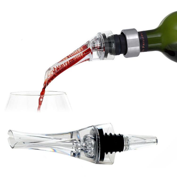 Wine Aerator Pour Spout Acrylic Decanter Pourer Aerating Bottle Stopper Barware