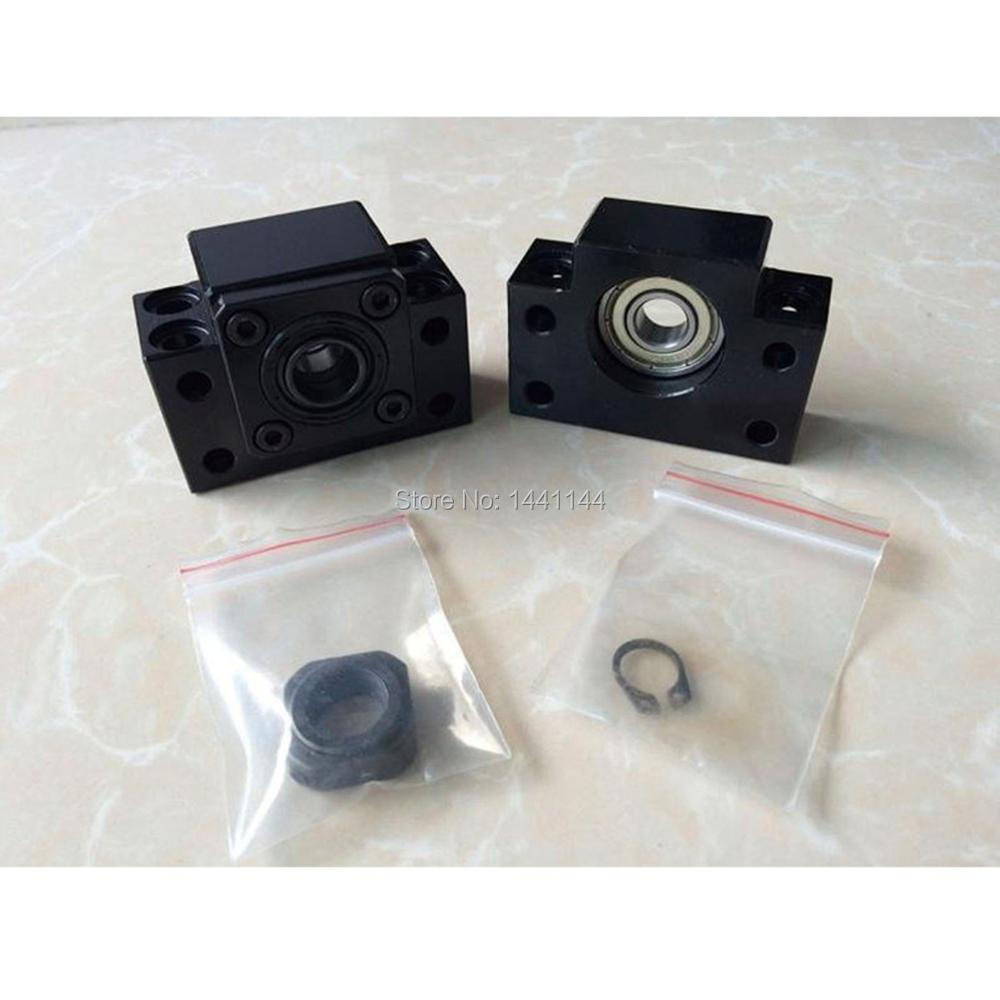 SBR20 linear guide rail 6 sets SBR20 - 400/1000/1500mm + SFU1605 - 400/1000/1500mm ballscrew +BK/BK12+Nut housing cnc parts