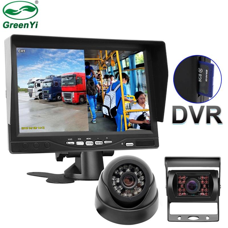 DVR Bus-Truck CCTV Parking-Monitor Digital-Video-Recorder Lcd-Screen Front-Rear-Camera