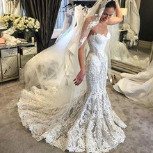 Baroque Summer 2019 Mermaid Wedding Dresses court Train