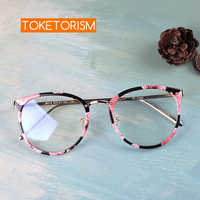 Toketorism 2019 tr90 metal glasses frame vintage women men eyes glasses myopia diopter optical frames