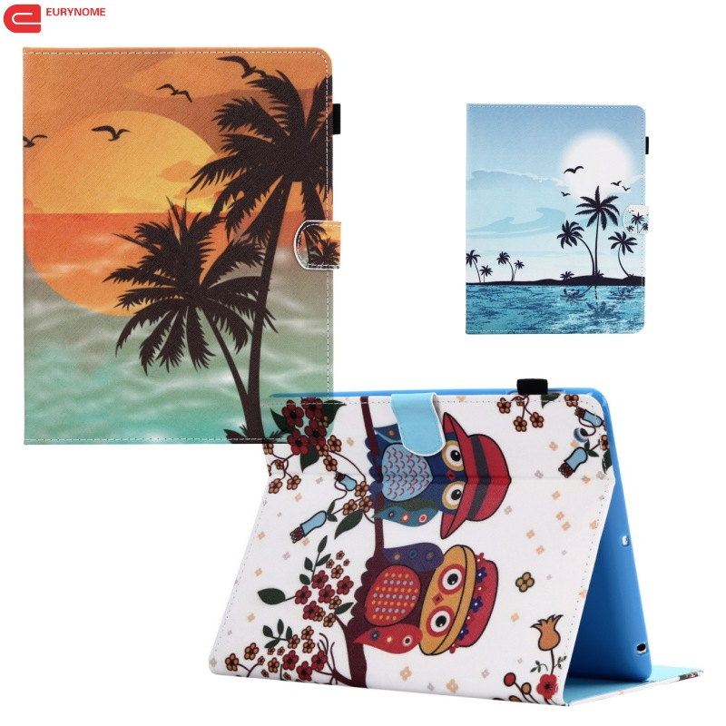Fashion Tree Owl Tower wallet Card Slot Pu leather stand Smart Cover Case for Samsung Galaxy Tab S3 9.7 T820 T825 screen film