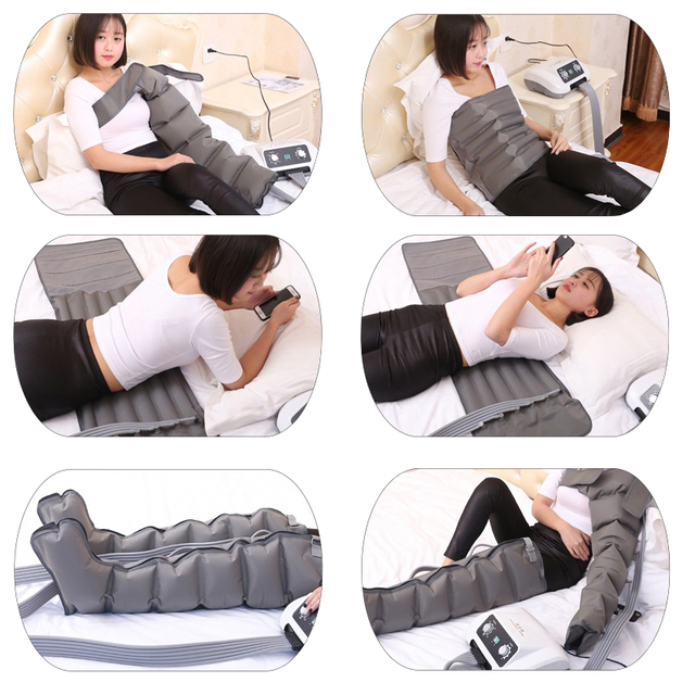 Portable Pressotherapy Lymph Drainage Machine Air Pressure Pressotherapy Body Massager Detox Body Slimming