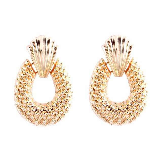 712644cc13b9d8 Vintage Earrings for women Fashion Geometric statement earring 2018 metal  Dangle summer earing Hanging trendy jewelry