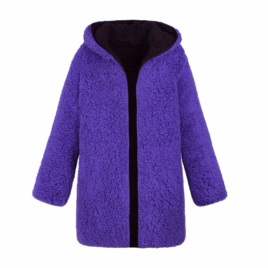 Autumn Winter   jacket   Women 2018 outwear & coats female Faux lambswool Big size Women Loose both side   basic     jackets   Womens   jacket