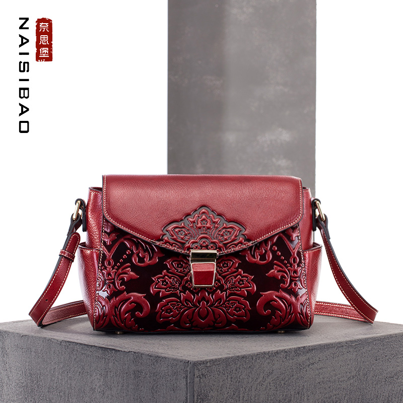 ca6f94ef56e0 High quality Chinese style Genuine leather Vintage female name brand ...