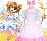 Card Captor Cosplay Lolita Skirt College Suit Skirt Female Summer Anime Fans Collection Drop Ship