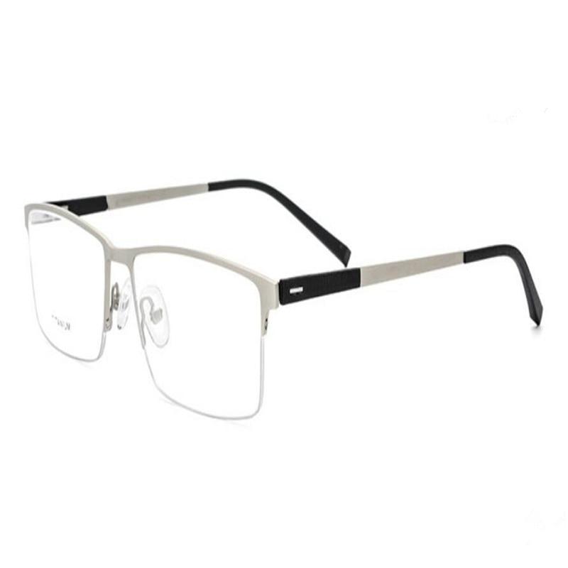 Lovely Mongoten Business Men Retro Fashion Half Rim Titanium Progressive Multi-focal Lens Silver Goggle See Near Far Reading Glasses Refreshment Men's Reading Glasses