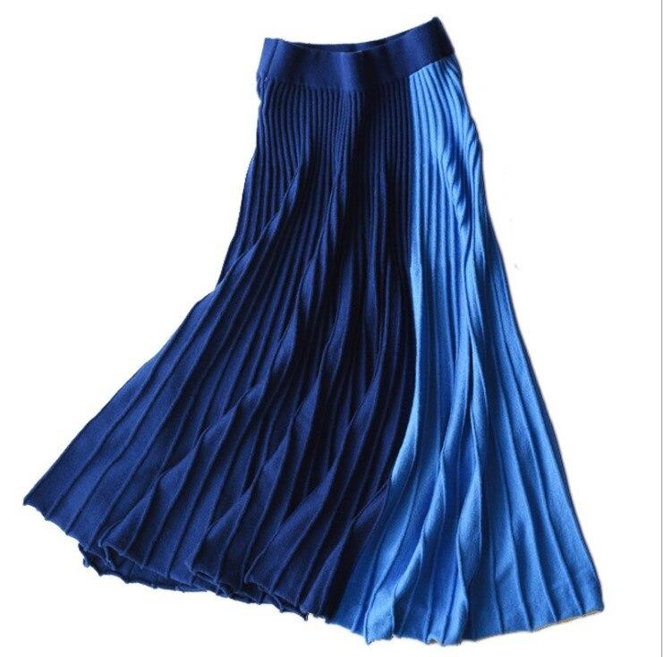 Alta Cintura De Plisado Ombre Para Línea Color Stretch Una Gtgyff Punto Las Del Invierno Paraguas Bloque verde Faldas Otoño Azul Caliente Militar qP8z40
