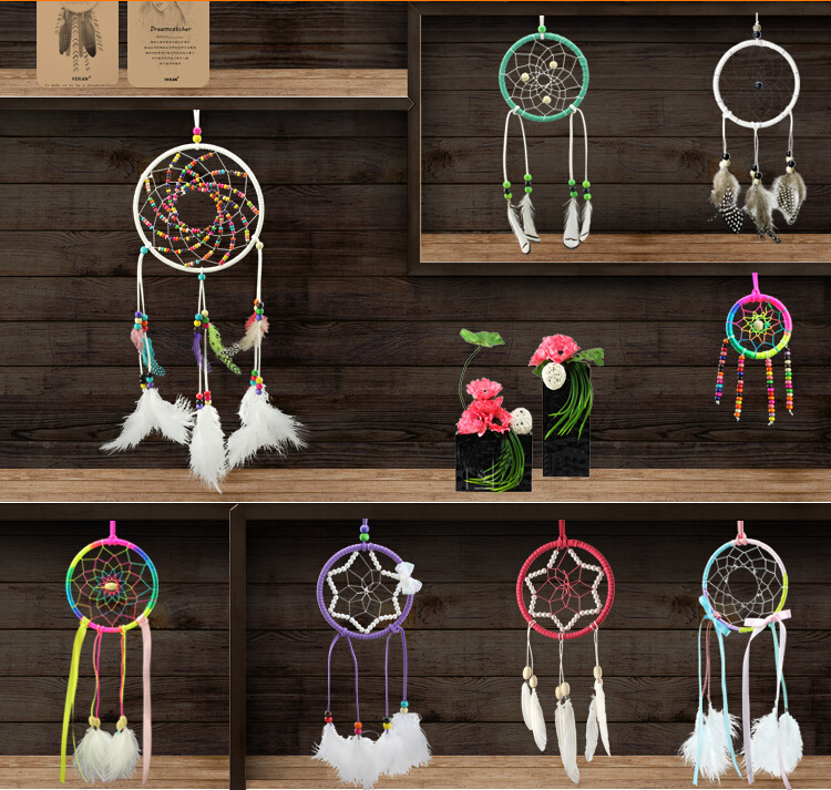 Aliexpress Com Buy Indian Dream Catcher Home Decor Feather Dreamcatcher Wind Chimes Indian Style Religious Mascot Car Or Wall Hanging Decoration From