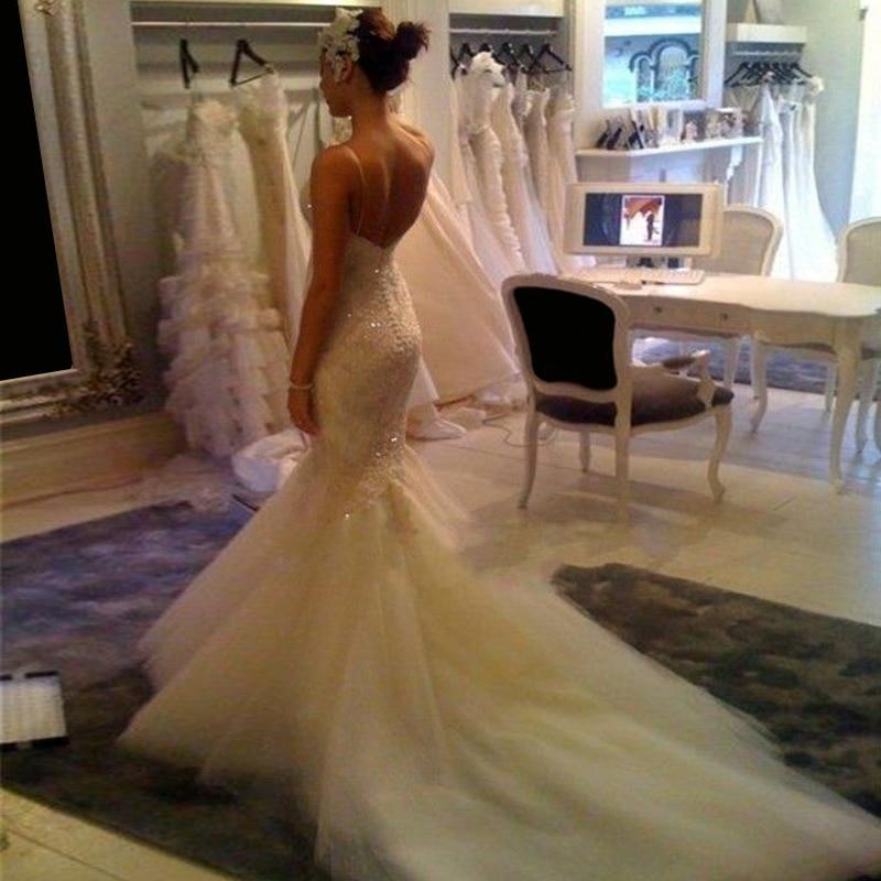 dbb91a78d2d12 Sexy Bride Dress Trumpet With Tail Train Applique Abiti Da Sposa Gelinlik  Custom Size Chart Casamento Mermaid Wedding Dresses-in Wedding Dresses from  ...