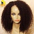 150 Плотность Kinky Вьющиеся Человеческих Волос Полный Шнурок Парики Бразильский Полный кружева Парики Человеческих Волос Для Черных Женщин Glueless Кружева Перед Парики