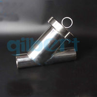 Fit 51mm Pipe OD 2 Welding SUS304 Sanitary Y Type Strainer Filter Home Brew Wine
