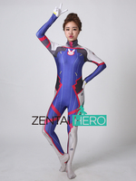 ZentaiHero D.VA Costume 3D Print dva original skin Zentai Catsuit Lady Halloween D.va Cosplay Costumes Lycra Spandex Game Suit