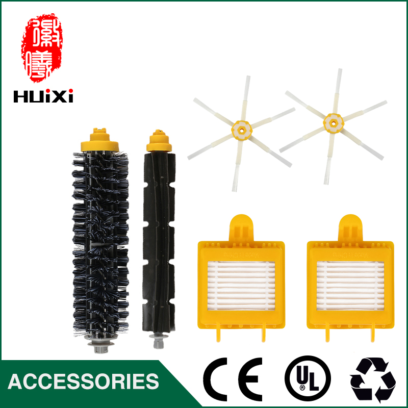 Cheapest Spare Parts 2pcs  6-armed Side Brush+1set Flexible Turbo Brush + 2pcs HEPA Filter for 760 770 780 790 Vacuum Cleaner