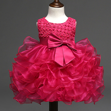 Summer Princess Girl Dress Kids Clothes Pageant Party Tutu Dresses for Girls Baby Wedding Clothing Christening Ball Gown