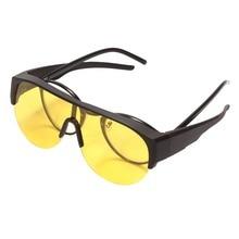 Agstum поляризационные солнцезащитные очки без оправы для ночного видения, подходят для ночного вождения, спортивные очки