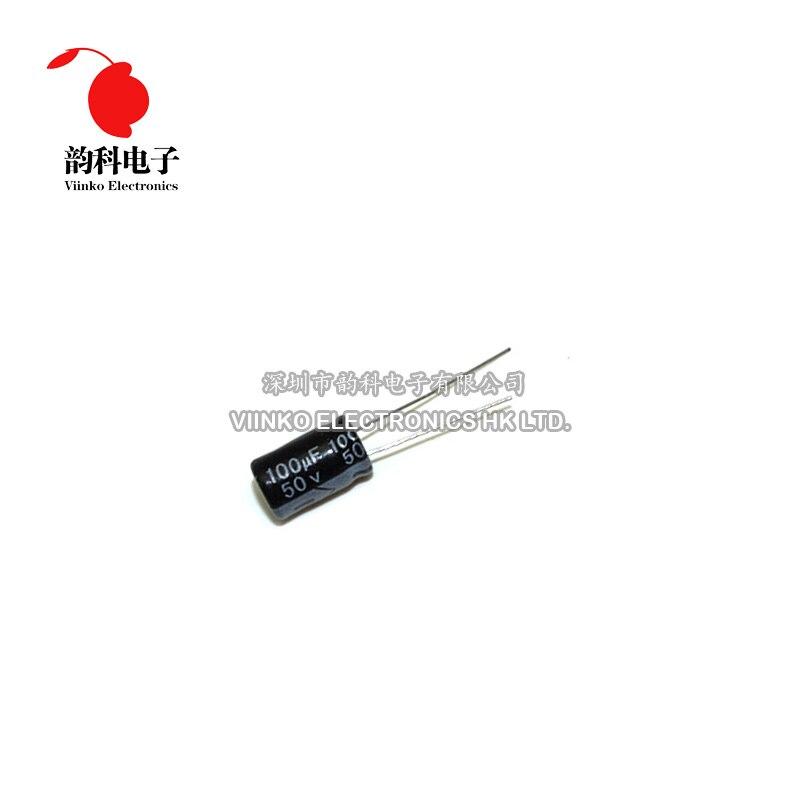 20 piezas 50V 100UF 8*12mm condensador electrolítico de aluminio 8X12mm