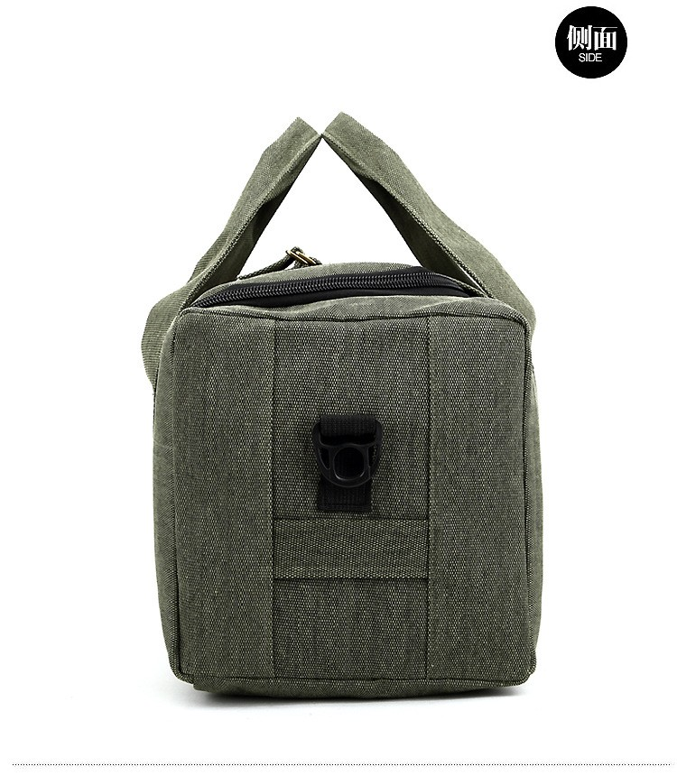 Men Outdoor Casual Canvas Gym Travel Duffel Bag Large Capacity High Quality Messenger Crossbody Shoulder Tote Travel Bags (12)