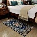 Синий ковер в средиземноморском стиле для спальни  гостиной  двери  напольный Прямоугольный Коврик