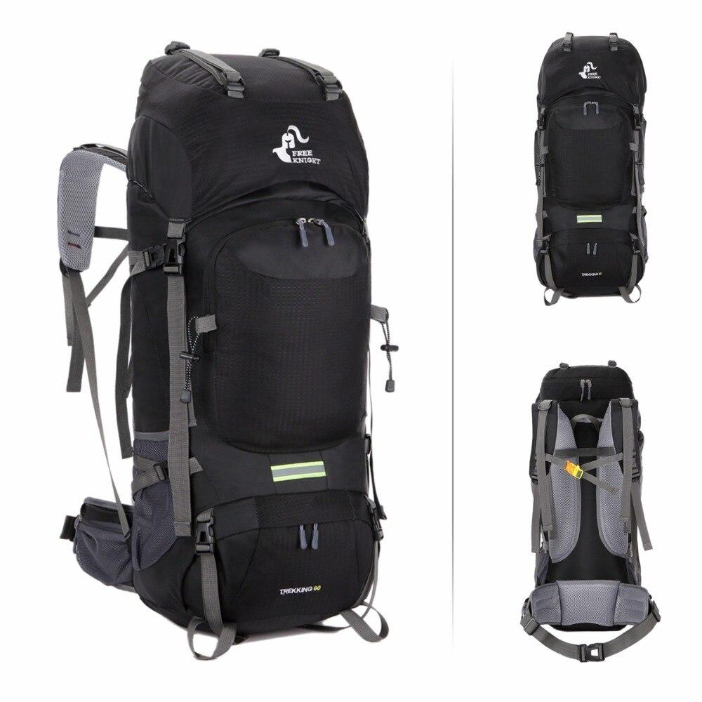 037e18d76 Caballero 60L montañismo senderismo mochila Camping Trekking Bag gran  capacidad mochila resistente al agua mochila al aire libre en Bolsas de  escalada de ...
