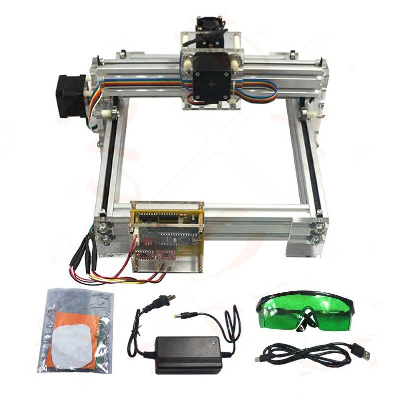500MW Desktop DIY Violet LY 2017 mini Laser Engraver Picture CNC Printer 20*17CM