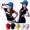 Atacado 2015 LGFC027 bling do Verão paillette das mulheres meninas Stage Lantejoulas boné de beisebol chapéu hiphop cap sunhat