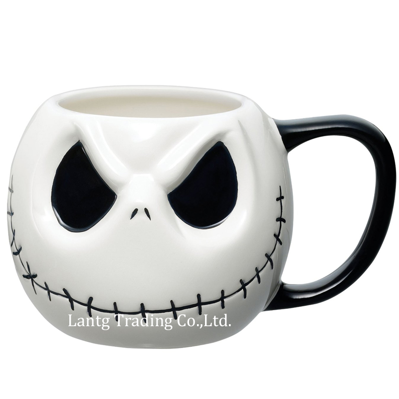 "Jack Skellington Mug, ""The Nightmare Before Christmas"" Tegneserie Kaffekrok Tea Cup"