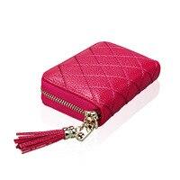 THINKTHENDO Fashion Women Leather Wallet Card Holder Zipper Coin Purse Clutch Lady Handbag