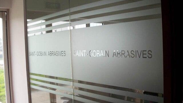 Customize Logo Name Scrub Cutout Waistline Glass Door Crash Bar  Compartmentation Lettering Film