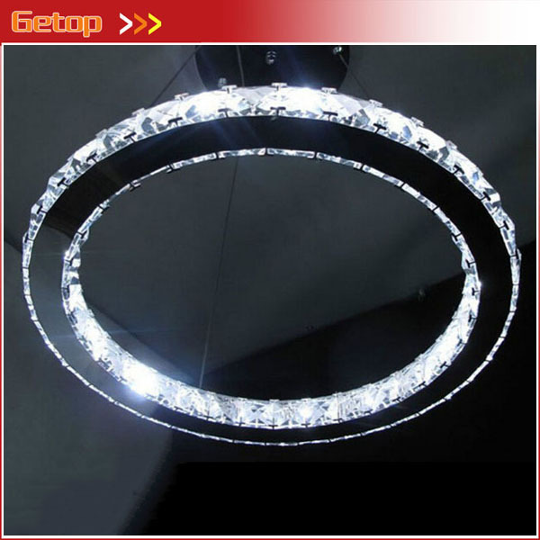 Best Price LED Crystal Chandelier Home Lights Annular Crystal Lamp Bedroom Kitchen Living Room Ring Lights D200mm Free Shipping free shipping best selling living room led ceiling light 200mm dia led chandelier