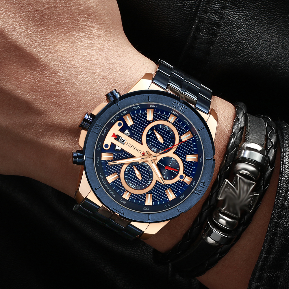 HTB1MJyEcq1s3KVjSZFAq6x_ZXXaO CURREN Men Watch Luxury Watch Chronograph
