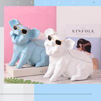 Creative Geometry Cute Lucky Pig Tissue Holder Cassette Paper Holder Pumping Tray Living Room Coffee Table Decoration Best Gift
