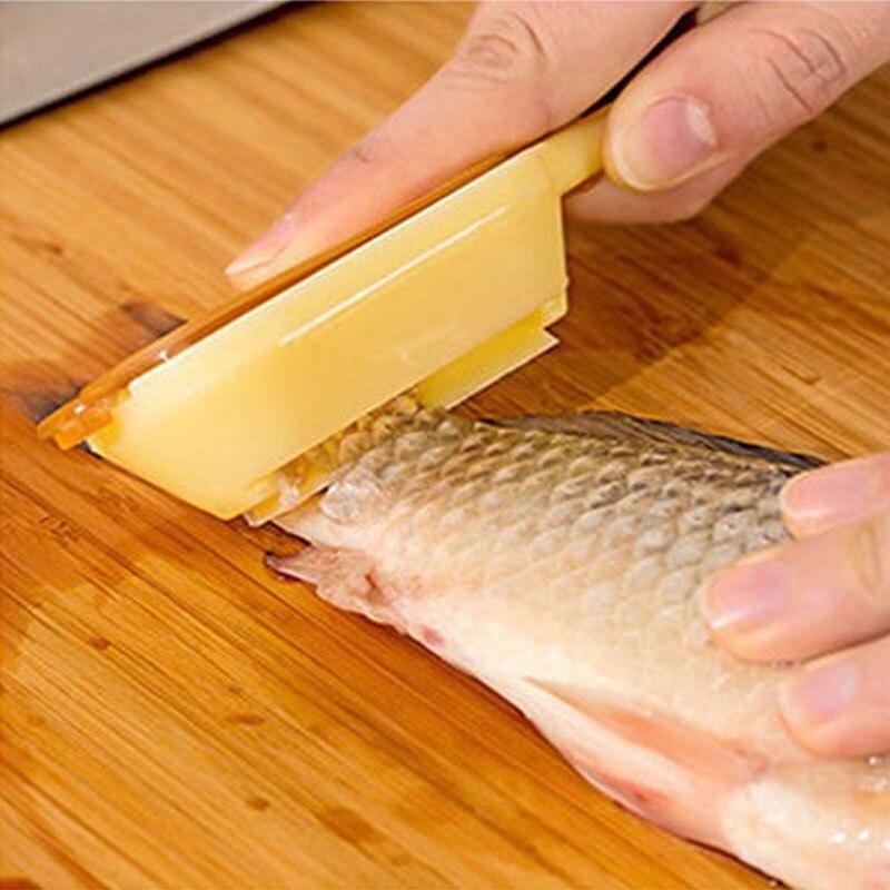 1 Pza Venta Superior Práctica Removedor De Báscula De Pescado Rascador Limpiador De Herramientas De Cocina Pelador Gama Completa De ArtíCulos
