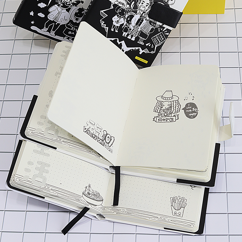 Image 5 - Kawaii School Dots Grid Notebook Journal Stationery Gift Dotted Bullet Journal Notebook with Buckle Blank DIY Sketch Notebook-in Notebooks from Office & School Supplies