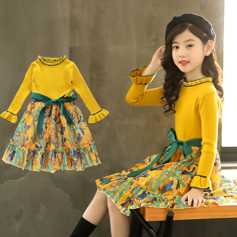 Girls Dress Winter Children Clothing Kids Dress for Wedding Party Toddler Long Sleeve Princess Brand Fashion 2020 Spring Summer 2