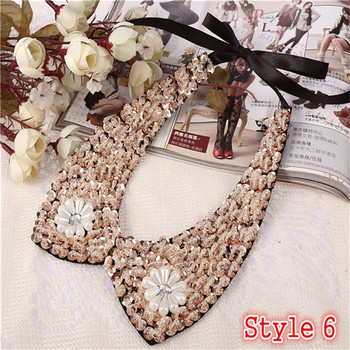Fashion Women's Sequined Choker Necklaces Jewelry Necklaces Women Jewelry Metal Color: Style 6