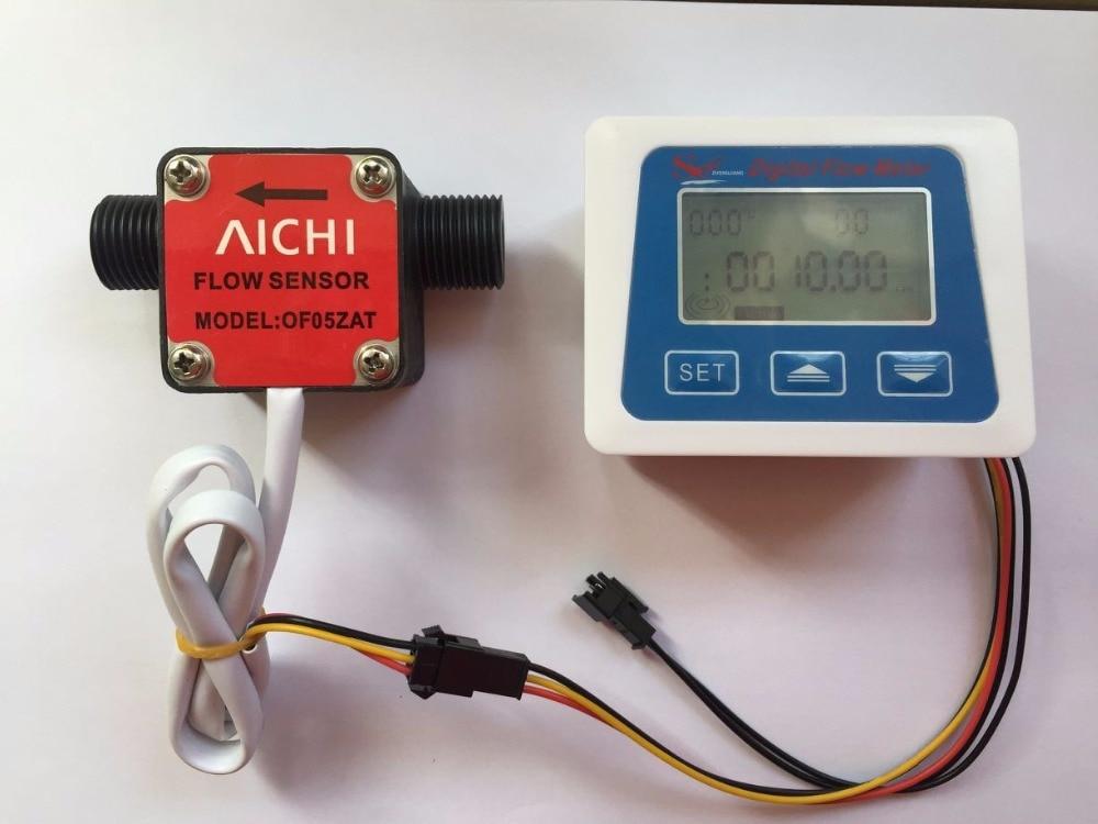 Gal Digital Flow Meter+Aichi Oval Gear Flow Meter Sensor For Measuring Diesel Gasoline Solene Benzine Petrol Oil Milk