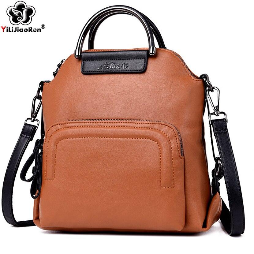 Fashion Backpack Female 2019 Famous Brand Leather Backpack Women Large Capacity Back pack Luxury Shoulder Bag for Women Mochila
