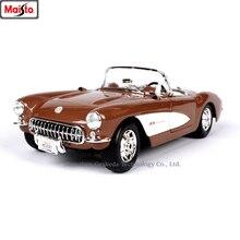 цена на Maisto 1:18  1957 Chevrolet Corvette Simulation Alloy Retro Car Model Classic Car Model Car Decoration