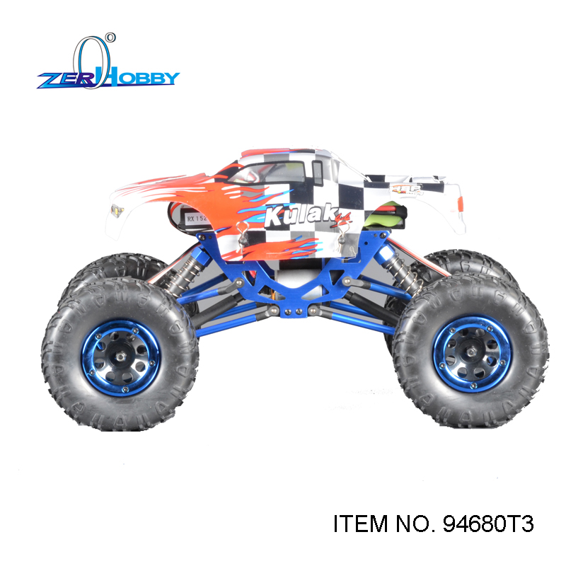 HSP RACING RC CAR TOYS 1/18 SCALE KULAK ELECTRIC OFF-ROAD 4WD CRAWLER TRUCK BATTERY POWERED RTR 02023 clutch bell double gears 19t 24t for rc hsp 1 10th 4wd on road off road car truck silver