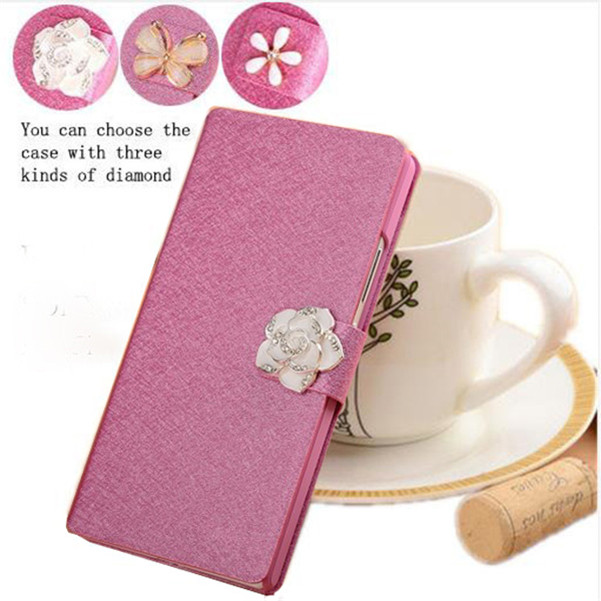 1pcs/lot Diamond Magnet Silk PU Leather Wallet Case For LG L70 Dual D325 D320 L65 D280 D285 L 70 L 65 Phone Case Cover