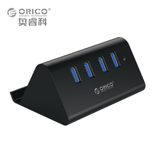 ORICO 5Gbps High Speed Mini 4 ports USB 3.0 / 2.0 HUB for Desktop Laptop with Stand Holder for Phone Tablet PC  – Black / White