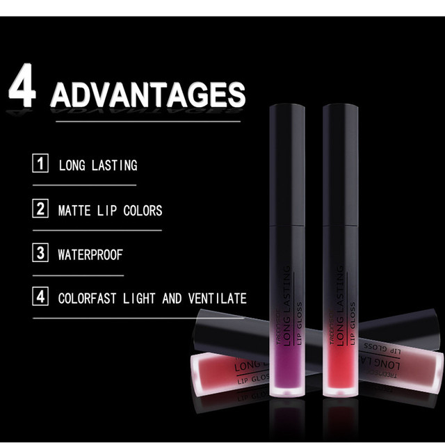 30 color matte liquid lipstick waterproof long lasting lip plumper makeup lipstick velvet gloss lip gloss cosmetics 3