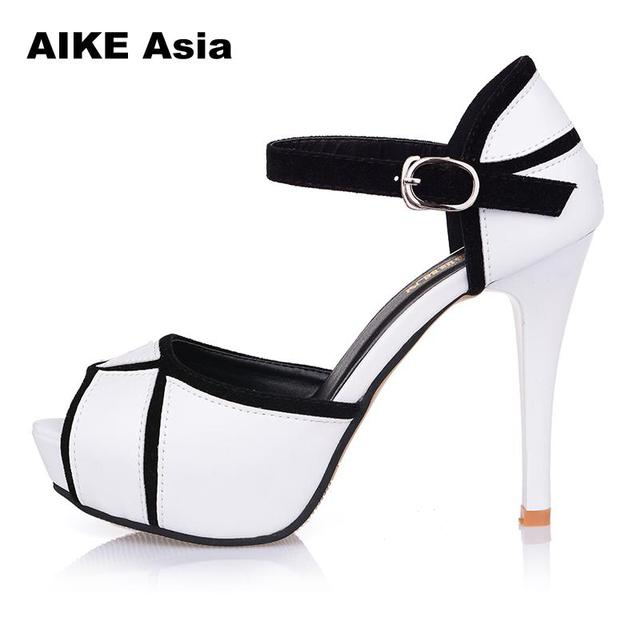 Summer Hollow Buckle Women's Shoes European And American Fight Color Fish Mouth Fine With High Heels Young Daily Shoes #A6619 5